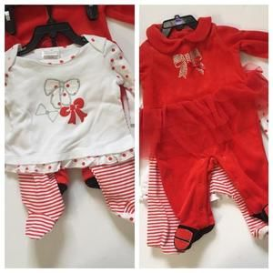NWT Absorba red and white  2 piece set